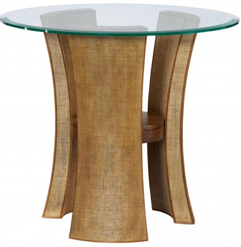 Grove Point Warm Khaki Round End Table