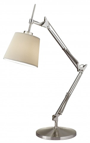 Architect Satin Steel Table Lamp