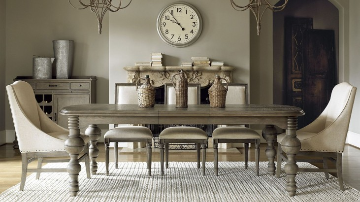 Great Rooms Studio Extendable Gathering Dining Room Set