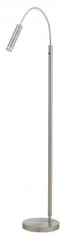 Eos Satin Steel Floor Lamp