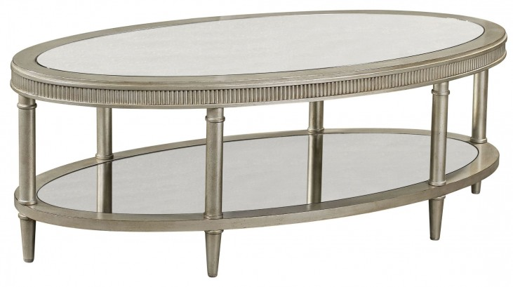 Vanesta Silver Oval Cocktail Table