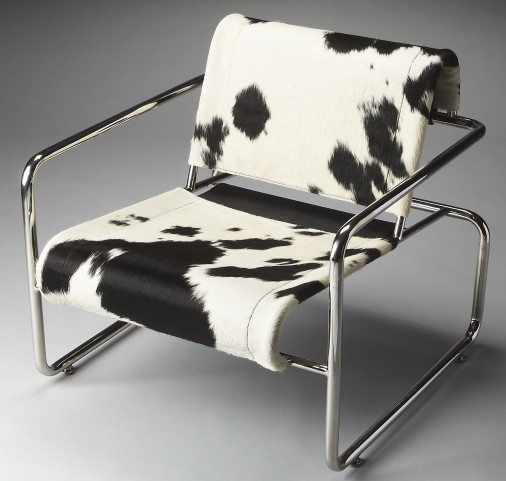 Soho Loft Nickel Accent Chair