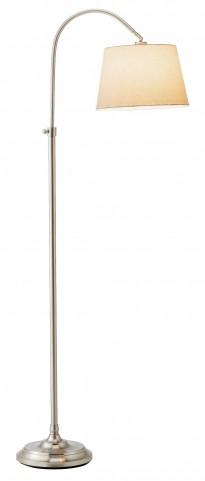 Bonnet Satin Steel Floor Lamp