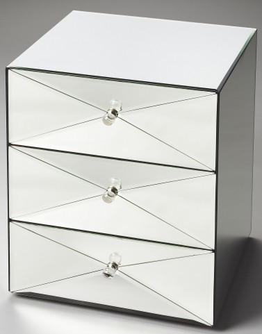 Aldo Loft Gray Mirror Accent Chest