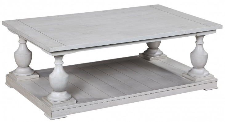 Holden Antique White Rectangular Cocktail Table