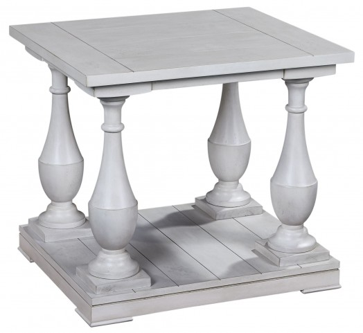 Holden Antique White Rectangular End Table