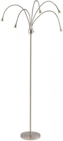 Firefly Satin Steel Led Floor Lamp