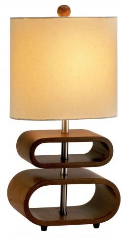 Rhythm Walnut Table Lamp