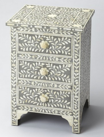 Bone Inlay Vivienne Gray Accent Chest