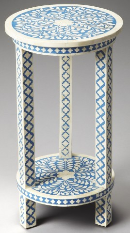 Amanda Bone Inlay Heritage Accent Table