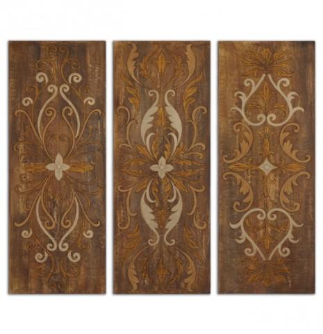 Elegant Swirl Panels Set of 3
