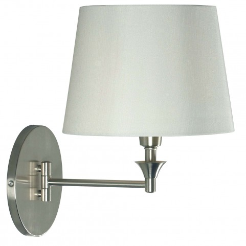 Martin Brushed Steel Wall Swing Arm Lamp
