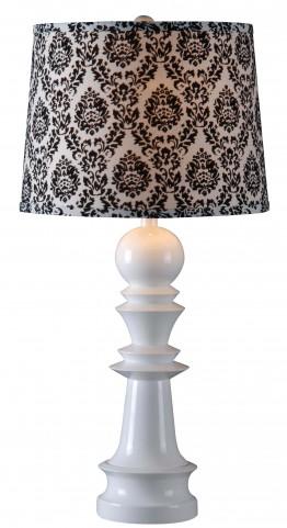 Gambit Gloss White Table Lamp