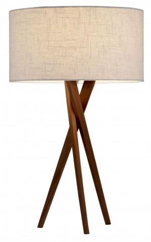 Brooklyn Light Walnut Table Lamp