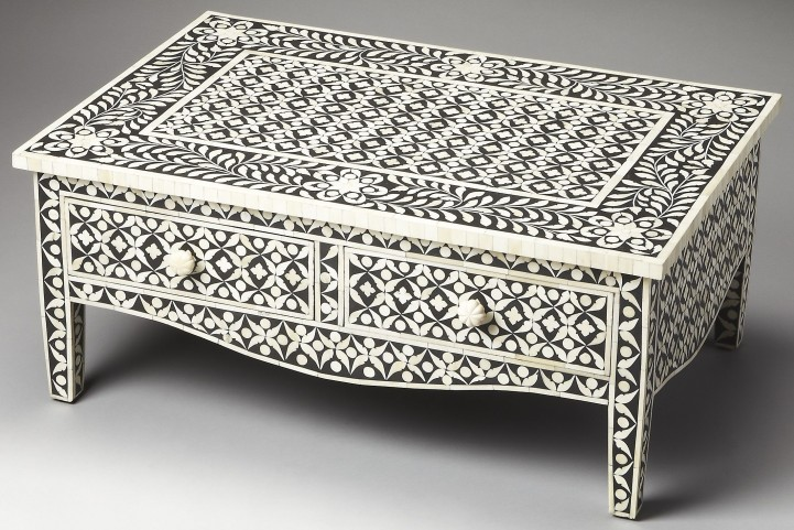 Cassandra Bone Inlay Heritage Cocktail Table