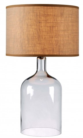 Capri Clear Glass Table Lamp