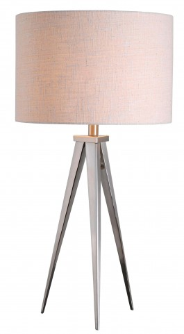 Foster Brushed Steel Table Lamp