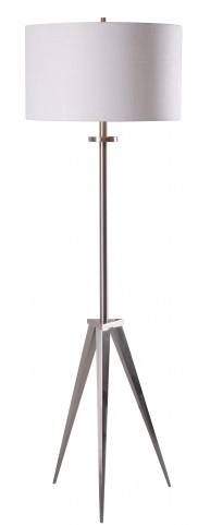 Foster Brushed Steel Floor Lamp