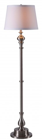 Chatham Brushed Steel Floor Lamp