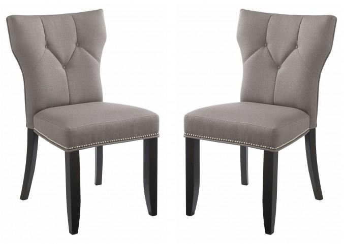Bernard Linen Dining Chair Set of 2