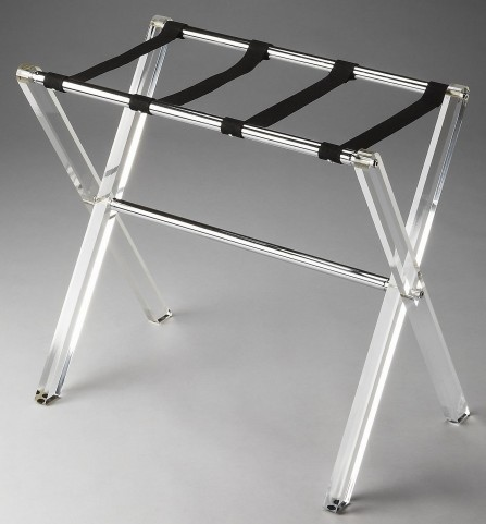 Crystal Clear Loft Luggage Rack