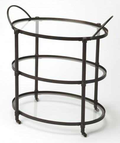 Metalworks Metal & Glass Serving Cart