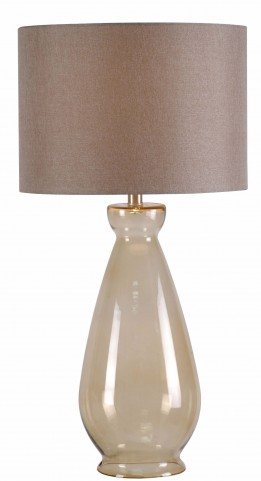 Bubbler Light Amber Table Lamp