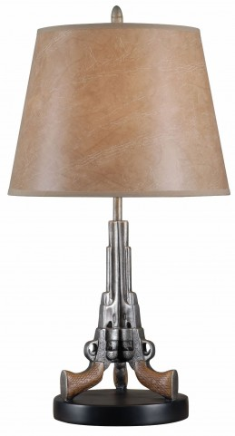 Samuels Weathered Steel Table Lamp