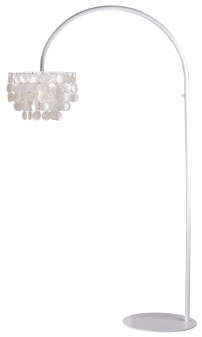 Shelley Arc White Floor Lamp