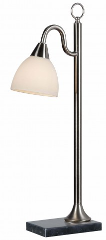 Lincoln Brushed Steel Table Lamp