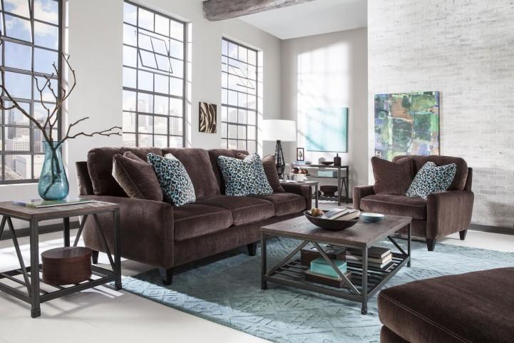 Mulholland Chocolate Living Room Set