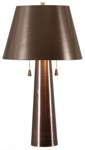 Biblio Antique Copper Table Lamp