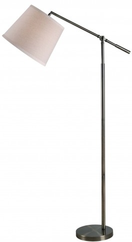 Tilt Dark Antique Brass Floor Lamp