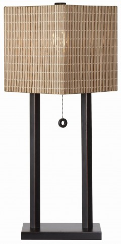 Offset Oil Rubbed Bronze Table Lamp