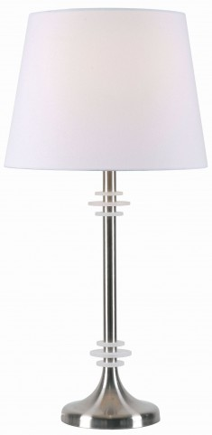 Ringer Brushed Steel Table Lamp
