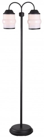 Killian Bronzed Graphite Outdoor Floor Lamp
