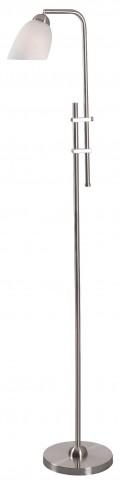 Extender Brushed Steel Floor Lamp