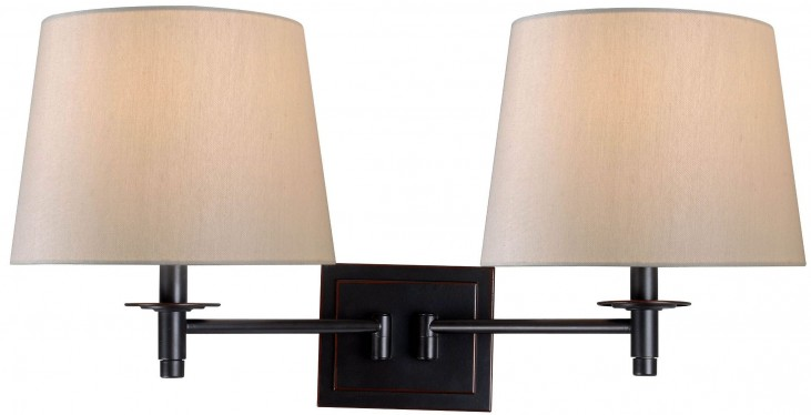 Glenn Oil Rubbed Bronze Wall Swing Arm Lamp
