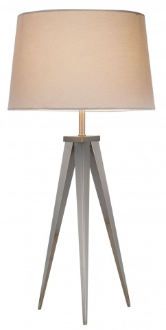 Producer Off White Satin Steel Table Lamp