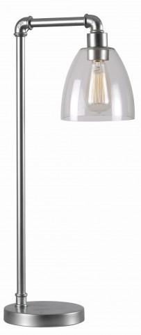 Steam Fitter Galvanized Metal Desk Lamp