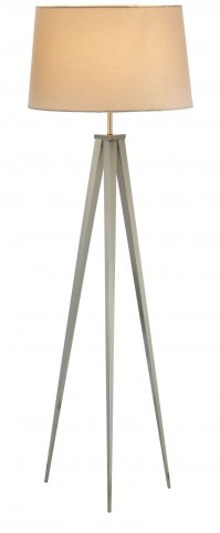 Producer Satin Steel Floor Lamp