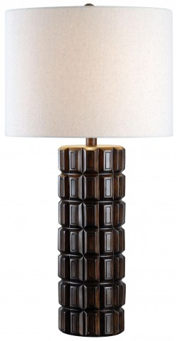 Sector Dark Maple Table Lamp