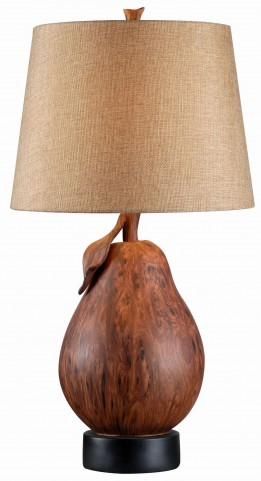 Le Poire Wood Grain Table Lamp