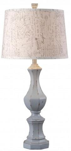 Gianni Distressed Gray Table Lamp
