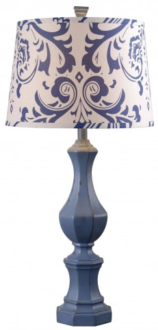 Gianni Distressed Navy Table Lamp