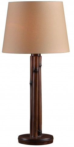 Panda Bamboo Outdoor Table Lamp