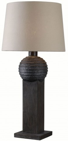 Garden Wood Grain Outdoor Table Lamp
