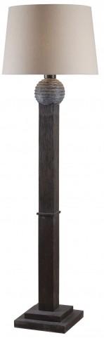 Garden Wood Grain Outdoor Floor Lamp