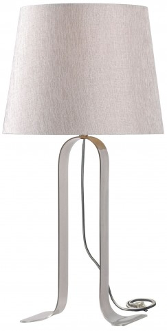 Veer Brushed Steel Table Lamp