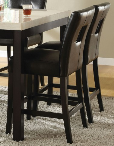 Archstone Black Bi-Cast Vinyl Counter Height Chair Set of 2